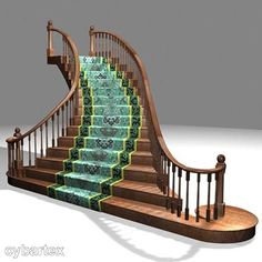 Sweeping miniature staircase