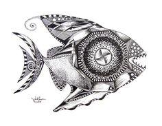 Fine Fish Art Drawings (Originals) from J. Vincent Scarpace ...