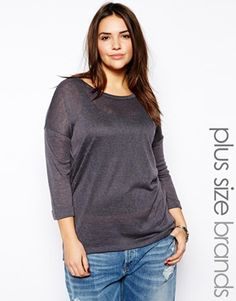 Enlarge New Look Inspire Drop Sleeve Knitted Top