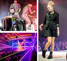 Laser-Show mit coolen Effekten bei der Modavision in Magdeburg. #modavision #magdeburg #magmag #fashion #trend #mode #effekte #lasershow #laser