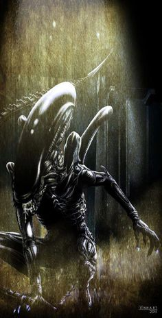 Xenomorph by Kevin Enhar (don't know who that is. but he's on my list of favorite human beings)