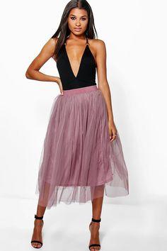 Boutique Aya Tulle Full Midi Skirt