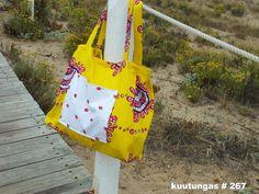 Bolsa de praia em tecido wax ,à venda em kuutungas by etsy
