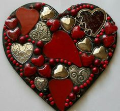 Valentine's Day is right around the corner, and we're ready to spice things up! Mosaic Crafts, Mosaic Projects, Mosaic Art, Mosaic Glass, Glass Art, Mosaics, My Funny Valentine, Valentine Heart, Valentines