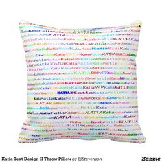 Katia Text Design II Throw Pillow