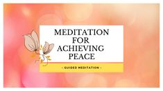 This is  short, 12 minutes guided meditation for achieving your inner peace and love and letting go of anxiety and control. ♥