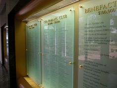 donor recognition walls | Donor Walls: Donor Recognition Walls & Donor Wall Plaques & Displays ...
