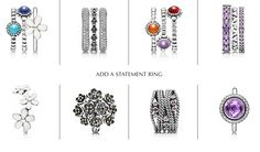 The perfect stack of rings mixed with a statement ring - what is your favorite combination? #PANDORAring