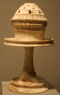 Incense Burner,Thymiaterion, Greek from South Italy or Sicily, 400-300 BC, The Getty Villa, Malibu, California