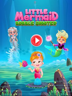 An addictive bubble shooter game for kids to enjoy! Shoot the bubbles to burst them and set free all the mermaids trapped in them
