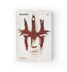 """""""William Shakespeare - Macbeth"""" Hardcover Journals by RedHillPrints   Redbubble"""