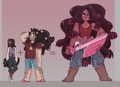 "supernovember: ""All this excellent Stevonnie action in the current steven bomb has me real excited about the possibilities for adult Stevonnie, once Steven is inevitably a ginormous man """
