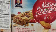 #leanwashing La marca Quaker, no por ser de avena su ingrediente principal, significa que es saludable porque contiene muchos azúcares