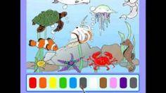 Preschool Games - Paint the Picture (Sea Animals), via YouTube.