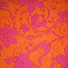 Pink and orange floral paisley