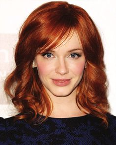 makeup red hair actress christina hendricks