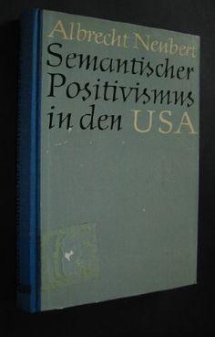 Semantischer Positivismus in den USA Usa, Cover, Books, Libros, Book, Book Illustrations, Libri, U.s. States