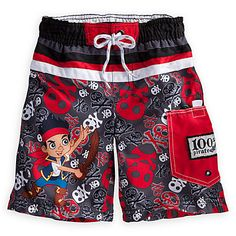 6be8ffc9a3 Jake and the Never Land Pirates Swim Trunks for Boys   Swimwear   Disney  (Use