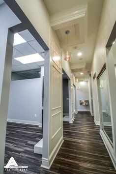Classic Contemporary Office Hallway. Dental Office Design By Arminco Inc.  More