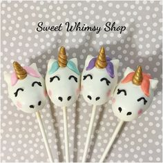 12 Unicorn Cake Pops by SweetWhimsyShop