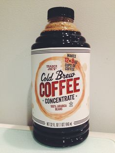 Trader Joe's Cold Brew Coffee Concentrate.  Just found this last weekend. Makes a great iced coffee!!