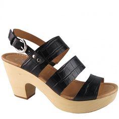 Wally End Of Season Sale, Clogs, Wedges, Shoe, Sandals, Black, Fashion, Clog Sandals, Moda