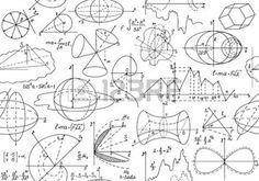 """Vector el modelo matem�tico incons�til con las figuras matem�ticas, c�lculos y parcelas, \\\ """"escrita a mano sobre el papel blanco \\\"""" photo"""