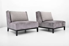 Pair of Christian Liaigre Lounge Chairs (2 Pairs Available) | From a unique collection of antique and modern lounge chairs at http://www.1stdibs.com/furniture/seating/lounge-chairs/