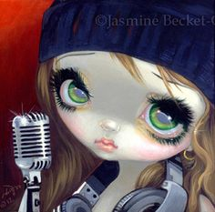 Fairy Face 186 Jasmine Becket Griffith Signed 6x6 Print DJ Hip Hop Music Faery | eBay
