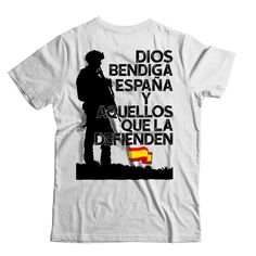 €22.95. Camiseta Dios bendiga España y aquellos que la defienden. Unisex, Mens Tops, T Shirt, Fashion, Patriots, God Bless You, Crew Neck, T Shirts, Supreme T Shirt