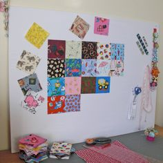 Quilt layout wall tutorial. Better than hijacking the quest bed everytime I make a quilt