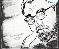Dnes je to přesně 111 let od narození Jana Wericha, českého herce, filmové scénáristy a autora tohoto trefného citátu! :) #happywriting Film, Author, Movie, Film Stock, Cinema, Films