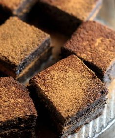 Mexican Hot Chocolate Double Fudge Brownies | thick fudge brownies with a…