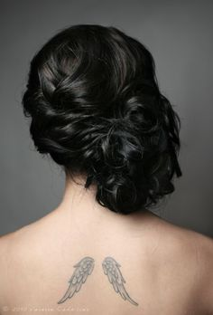 beautiful side updo.   Bridesmaids hair! The colour is great too!
