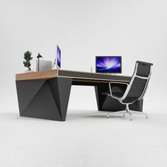 OS1 executive desk by ODESD2. Designer: Svyatoslav Zbroy.