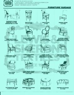 Recovering Or Re Upholstering A Chair Free Printable Fabric Yardage Guide