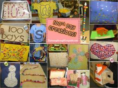 100th Day of School creations...awesome inspiration for projects!