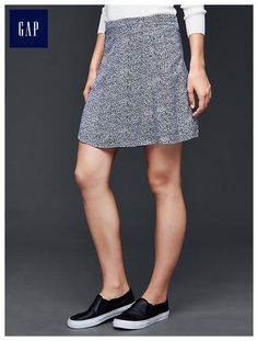 Floral soft flute skirt