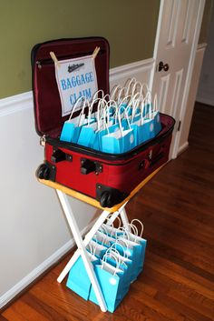 Train Birthday Party - (http://EmilyLongDesign.com/MamaBlog.html) - Baggage Claim Treat Bags, Gift Bags, Party Favors
