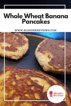 If you have trouble flipping pancakes, this recipe is for you! These whole wheat banana pancakes have a thick batter that tastes amazing and turns over easily in the pan. Ninja Blender Recipes, Vitamix Recipes, Breakfast For Dinner, Dinner Meal, Dinner Smoothie, Whole Wheat Waffles, Frosty Recipe, Vitamix Blender, Hazelnut Spread
