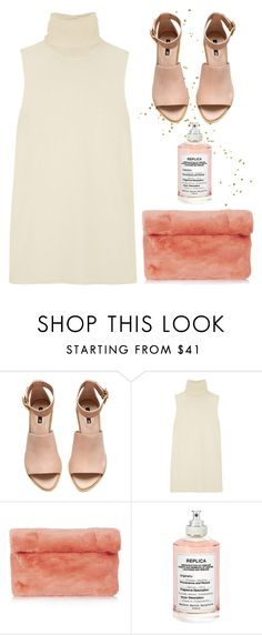"""""""chanel oberlin"""" by ffeathered ❤ liked on Polyvore featuring H&M, Helmut Lang, Topshop and Maison Margiela"""