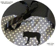 STICK♥Loop♥ DIY Sterne/Dots Wolf - Scherenschnitt  von ஐღKreawusel-aufgehübschtஐღ  auf DaWanda.com