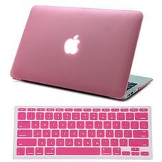 "HDE Macbook Air 11 Case Hard Shell Cover Solid Matte + Keyboard Skin for Apple Mac Air 11.6"" fits Model A1370 / A1465 (Pink) - Brought to you by Avarsha.com"