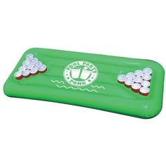 BigMouth Party Pong Green Inflatable Floating Pool Party Game by BigMouth at Fleet Farm Swimming Pool House, Swimming Pools, Pool Party Games, Beer Pong Tables, Dream Pools, Outdoor Camping, Rafting, Fourth Of July, Creative Design