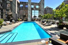 Best Family Hotels in Vancouver:  Great outdoor pool at the Westin.
