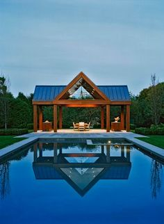 Connecticut Pool Pavilion - contemporary - pool - other metro - Harry Elson Architect PC