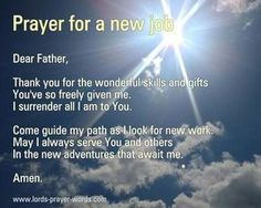 Featuring a short Christian prayer to say when searching for a new job, and a meditation on God's guidance. Prayer For Job Interview, Prayer For A Job, Prayer For Guidance, Prayer For Husband, Gods Guidance, Interview Answers, Spiritual Guidance, Spiritual Growth, Prayer Verses