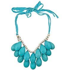 Blu Bijoux Turquoise Teardrop Necklace - Max and Chloe Jewelery, Jewelry Necklaces, Craft Jewelry, Statement Necklaces, Jewelry Accessories, Jewelry Design, Ladies Accessories, Max And Chloe, Teardrop Necklace