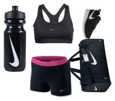 """day at the gym"" by watchingthestarsdrown ❤ liked on Polyvore featuring NIKE"