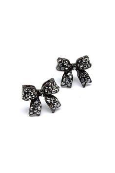 Black Bow Earrings ♥